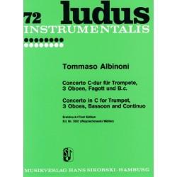 Albinoni, Tomaso: Konzert C-Dur für Trompete, 3 Oboen, Fagott und Bc Stimmen
