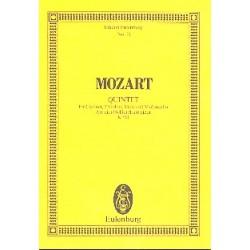Mozart, Wolfgang Amadeus: Quintett A-Dur KV581 : f├╝r Klavier und Streichquartett Studienpartitur