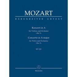 Mozart, Wolfgang Amadeus: Konzert A-Dur KV219 für Violine und Orchester Studienpartitur