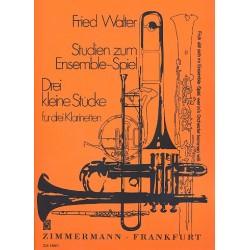 Walter, Fried: Studien zum Ensemblespiel Band 1 : für 3 Klarinetten Partitur und Stimmen