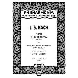 Bach, Johann Sebastian: Fuga à 6 voci für Orchester Studienpartitur