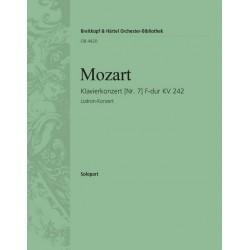 Mozart, Wolfgang Amadeus: Konzert F-Dur KV242 für 3 Klaviere und Orchester Klavier solo 2