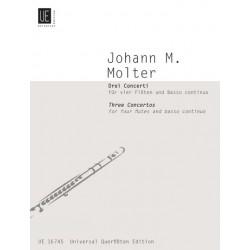 Molter, Johann Melchior: 3 Concerti : für 4 Flöten und Bc