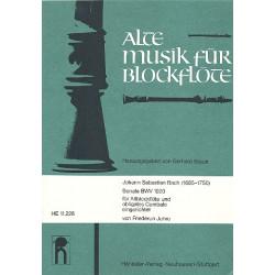 Bach, Johann Sebastian: Sonate BWV1020 : für Altblockflöte und obligates Cembalo