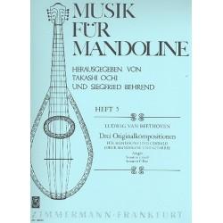Beethoven, Ludwig van: 3 Originalkompositionen für Mandoline und Cembalo Partitur+1Stimme