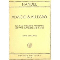 Händel, Georg Friedrich: Adagio and Allegro for 2 trumpets and piano