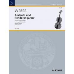 Weber, Carl Maria von: Andante und Rondo ungarese : für Viola und Orchester Partitur