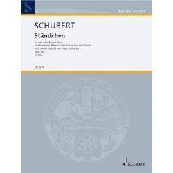 Schubert, Franz: Zögernd leise D920 für Alt (Bar), Männerchor (Fr.-chor) und Klavier Partitur