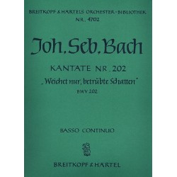 Bach, Johann Sebastian: Weichet nur betr├╝bte Schatten : Kantate Nr.202 BWV202 Cembalo