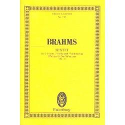 Brahms, Johannes: Sextett B-Dur op.18 : für 2 Violinen, 2 Violen und 2 Violoncelli Studienpartitur