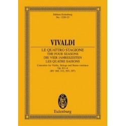 Vivaldi, Antonio: Konzert E-Dur op.8,1 RV269 für Violine, Streicher und Bc