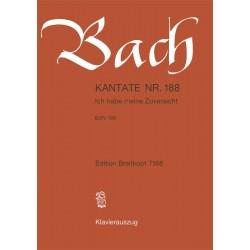 Bach, Johann Sebastian: Ich habe meine Zuversicht BWV188 : für Soli, gem Cho rund Orchester Klavierauszug (dt)