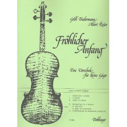 Biedermann, Gretl: Fröhlicher Anfang Band 4 Teil a : Kammermusik für 3 Violinen sehr leicht