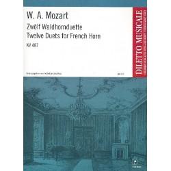 Mozart, Wolfgang Amadeus: 12 Waldhornduette KV487 Spielpartitur