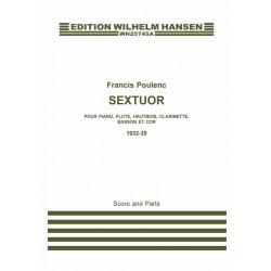 Poulenc, Francis: Sextett für Flöte, Oboe, Klarinette, Fagott, Horn und Klavier Partitur und Stimmen