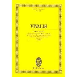 Vivaldi, Antonio: Konzert c-Moll RV441 : f├╝r Blockfl├Âte und Streicher Studienpartitur