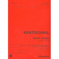 Kratochwil, Heinz: Partita ritmica op.92 : für 3 junge Holzbläser Partitur und Stimmen