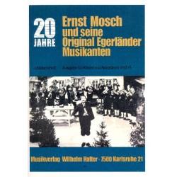 20 Jahre Ernst Mosch und seine Original Egerländer Musikanten Band 6: für Klavier (Akkordeon)