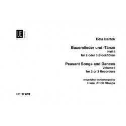 Bartók, Béla: Bauernlieder und -tänze Band 1 für 2-3 Blockflöten Spielpartitur