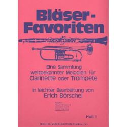 Bläser-Favoriten Band 1 Klavierbegleitung
