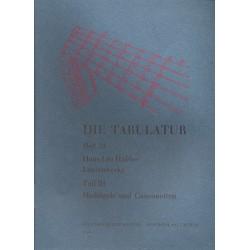 Hassler, Hans Leo: Lautenwerke Band 3 : Madrigale und Canzonetten