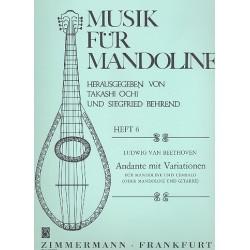 Beethoven, Ludwig van: Andante mit Variationen : für Mandoline und Cembalo