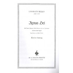 Bizet, Georges: Agnus dei : für Tenor solo, Männerchor und Orchester Klavierauszug (la)