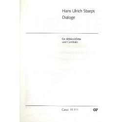 Staeps, Hans Ulrich: Dialoge : für Altblockflöte und Cembalo
