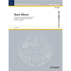 Bach, Johann Sebastian: Bach Album for 2 recorders (SA) and piano parts
