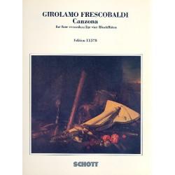Frescobaldi, Girolamo Alessandro: Canzona : for 4 recorders (SAAT) score