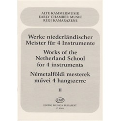 Werke niederländischer Meister : für 4 Instrumente Partitur und Stimmen
