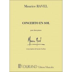 Ravel, Maurice: Concerto sol majeur pour piano et orchestre : for 2 pianos