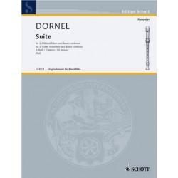 Dornel, Louis-Antoine: Suite d-Moll : f├╝r 2 Altblockfl├Âten und Bc