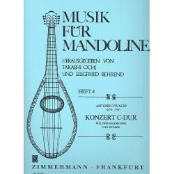 Vivaldi, Antonio: Konzert C-Dur : für 2 Mandolinen und Gitarre Partitur