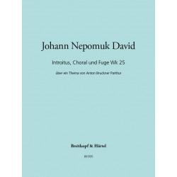 David, Johann Nepomuk: Introitus, Choral und Fuge über ein Thema von Bruckner : für Orgel und 9 Bläser, Partitur