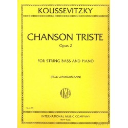 Koussevitzky, Serge: Chanson triste op.2 for double bass and piano