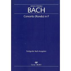 Bach, Johann Christian: Konzert F-Dur : für Orgel manualiter und Streicher Partitur