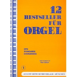 12 Bestseller f├╝r Orgel Band 1