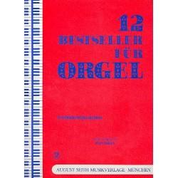 12 Bestseller für Orgel Band 2 : Stimmungslieder