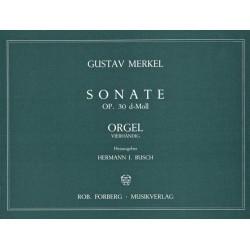 Merkel, Gustav Adolf: Sonate d-Moll Op.30 für Orgel zu 4 Händen