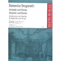 Dragonetti, Domenico: Andante und Rondo D-Dur : für Kontrabaß und Streicher Stimmen