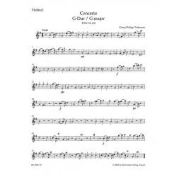 Telemann, Georg Philipp: Konzert G-Dur TWV51:G9 : für Viola und Streichorchester Violine 1