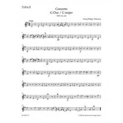 Telemann, Georg Philipp: Konzert G-Dur TWV51:G9 : für Viola und Streichorchester Violine 2