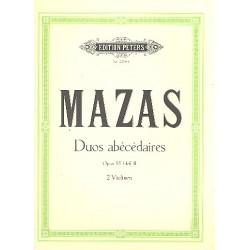 Mazas, Jacques Féréol: Duos abécédaires op.85 Band 2 : für 2 Violinen stimmen