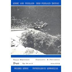 Marttinen, Tauno: Duo op. 66,2 für Klarinette und Percussion