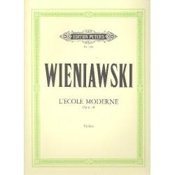 Wieniawski, Henri: L'école moderne op.10 : für Violine