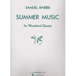 Barber, Samuel: Summer Music op.31 : for woodwind quintet score and parts