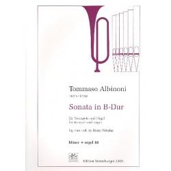 Albinoni, Tomaso: Sonate B-Dur : für Trompete und Orgel