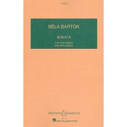 Bartók, Béla: Sonata : for 2 pianos and percussion study score