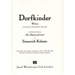 Kálmán, Emmerich: Dorfkinder : für Salonorchester